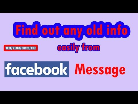 Easily Find very old message from facebook, search message from fb message, Bangla (Nayan Mia)