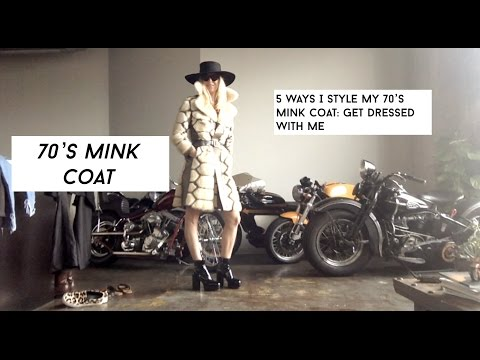 Vintage 70's Mink Coat:  How To Style A Mink Coat