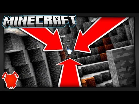 This Minecraft Cave Goes Down... Forever?!