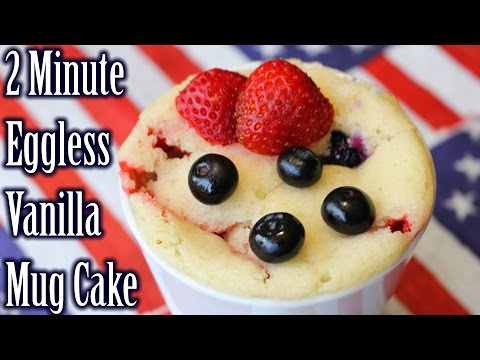2 Min Eggless Vanilla Mug Cake | Vanilla Mug Cake in Microwave | How to Make Vanilla Mug Cake