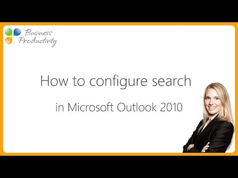 How to configure search in Microsoft Outlook 2010