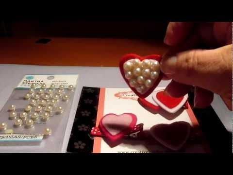 How to Make Baby Girls Felt Heart Hair Clippies