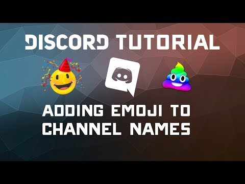 Adding Emoji to Discord Channel Names - Discord Tutorial Updated