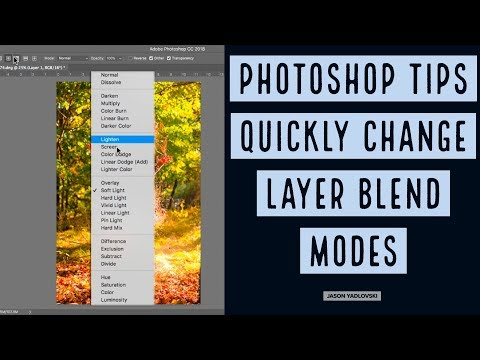 Photoshop Tips - Quickly Change Layer Blend Modes in Photoshop