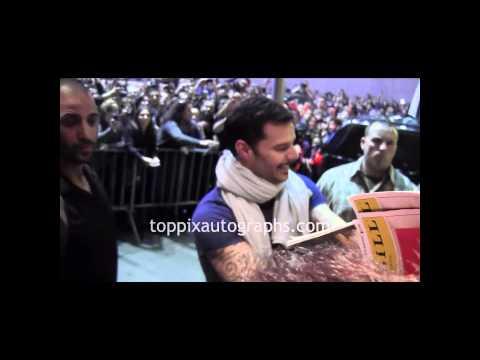 Ricky Martin - Signing Autographs at