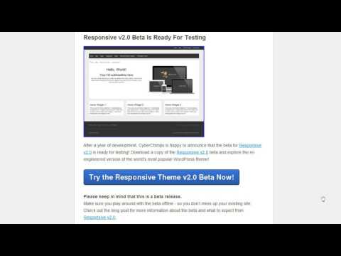 Responsive Theme BETA Update (read description too)