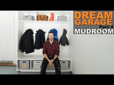 DREAM GARAGE |Pt 4|  BUILDING A MUDROOM