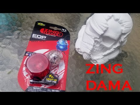 Zing Dama Unboxing and Review.  Light Up RingDama Skilltoy.
