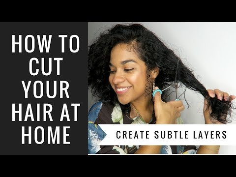 How to Cut Your Hair at Home | Curly Hair + Subtle Layers