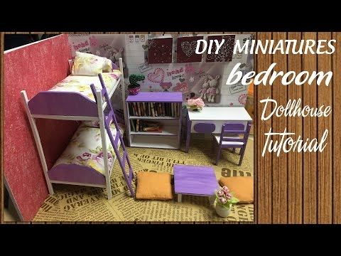 DIY Dollhouse Miniature Bedroom Tutorial | DIY Furniture Set Tutorial | FULL Video | N&L DIY