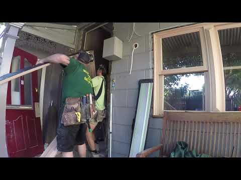 How to Instal an external door surround and door   Part 2