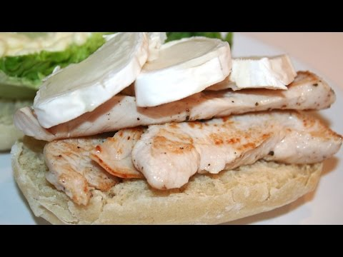 Turkey breast sandwich with goat cheese