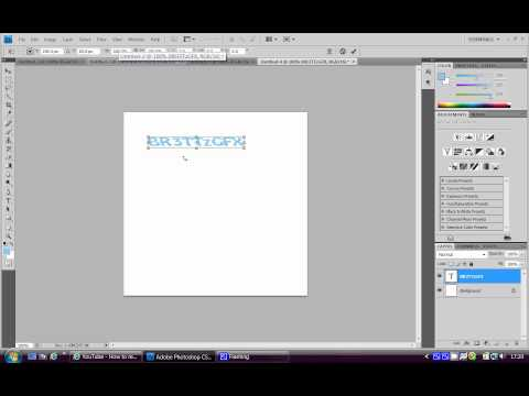 How to Rotate text in Adobe Photoshop CS4