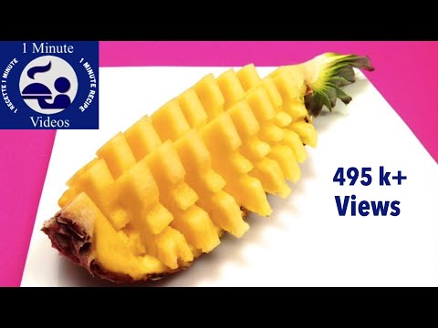 How to Quickly Cut and Serve a Pineapple / Tips, Tricks, Party Ideas, Food Art