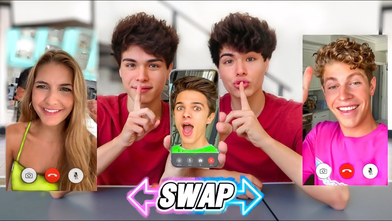 Twin Swap Facetime Prank on Our Friends!!