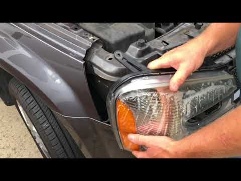 Changing the headlight bulb in a 2008 Chevy Equinox