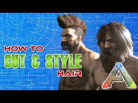 How to cut hair in ARK | Hair cut Tutorial | Ark Survival Evolved