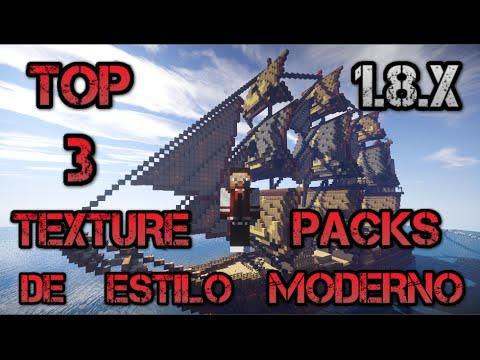 Top 3 Pack de Texturas De Estilo Moderno/Texture Pack Modern Style Minecraft 1.8.X +Download