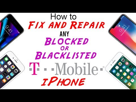 Fix/Repair T-Mobile Blocked/Blacklisted IMEI Cleaning for Any iPhone X/8/8+/7/7+/6s/6s+/6/SE/5s/5c/5