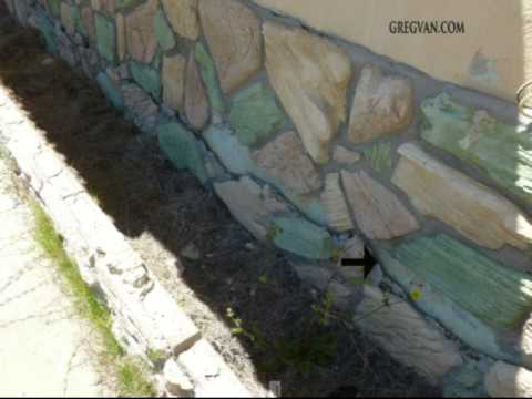 Artificial Rock Planter Problems - Exterior Wall Water Damage