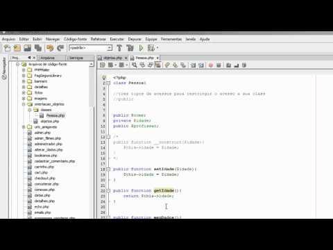 Setters e getters com PHP Orientado a Objetos