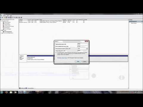 How to create a Windows 7 Partition