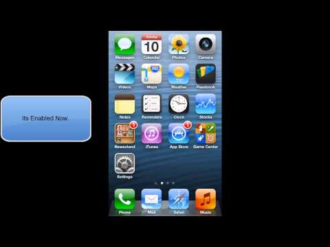 HOW TO ENABLE OR DISABLE BLUETOOTH IN IOS 6 (IPHONE 5 IPOD TOUCH)