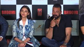 Sanjay Dutt OPENS UP On Manyata Dutt With A Candid Reply | Bhoomi Trailer Launch