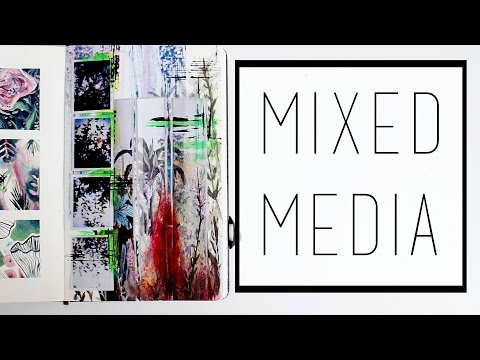 Creating a Mixed-Media Piece · 30 Ways to Fill a Sketchbook · SemiSkimmedMin