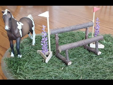 How To Make a Schleich Double Rail Cross Country Jump