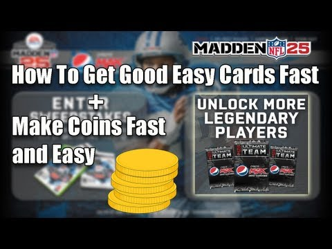 Madden 25 Ultimate Team - How To Get Good Easy Cards Fast + Make Coins Fast and Easy - MUT 25