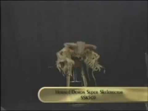 SFSSK503B Horned Demon Super Skelerector Animated Prop by ScareFactory