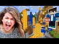 BLOWING UP MY LITTLE SISTER'S MINECRAFT WORLD!