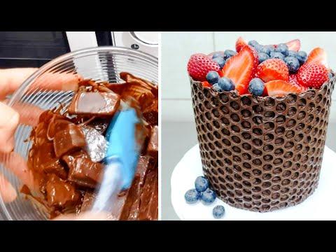 BUBBLE Wrap Chocolate HACK | Simple CHOCOLATE Decoration Cake by CakesStepbyStep