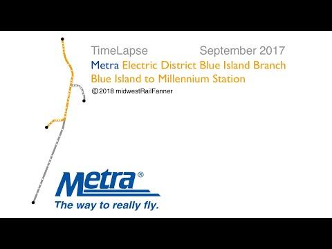 (4K) [TimeLapse] METRA: Electric District, Blue Island - Millennium Station