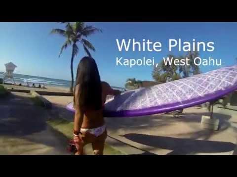 Surfing White Plains Beach