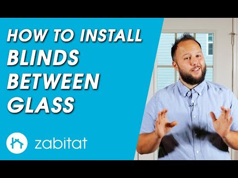How to Replace Door Glass with Blinds Between Glass - Enclosed Blinds
