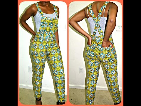 DIY PINTREST AFRICAN PRINT JUMPER/ DUNGAREE