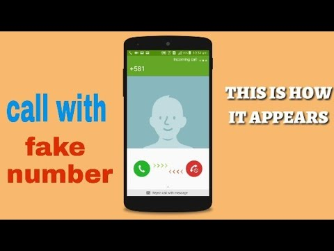 How to call someone with a fake number/private number