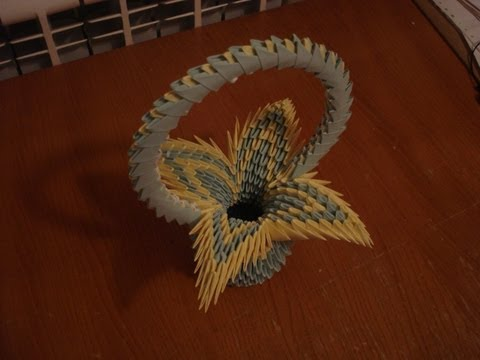 3D Origami Flower Basket Tutorial #2