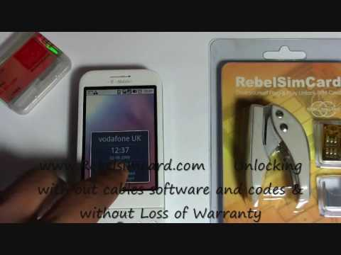 Rebel sim II showing how to unlock HTC Google G1 to use on any network