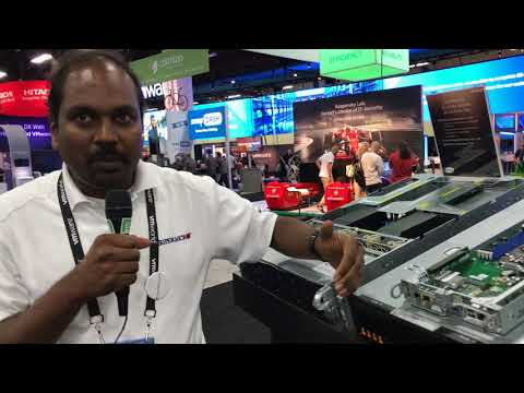 VMworld 2017 US - at Supermicro, Vik Malyala from shows us AMD EPYC servers