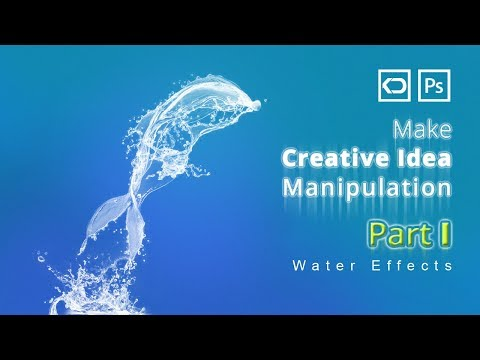 How to Create a Cool Water Effect in Photoshop | photoshop water splash brushes
