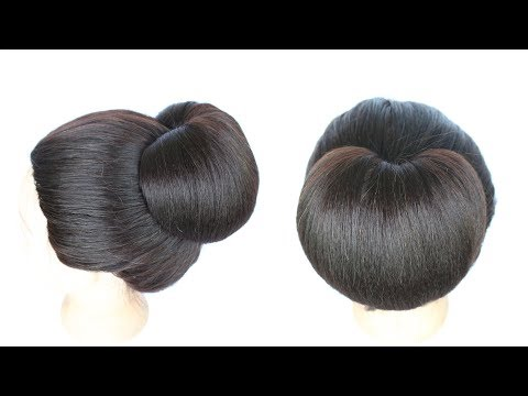 juda hairstyle || chignon hairstyle || hairstyle || cute hairstyles || easy updos for medium hair
