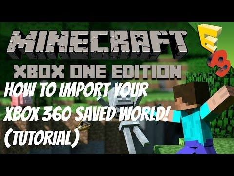 Minecraft Xbox One Edition - How to Transfer Your Xbox 360 Saved World (XB1) [HD]
