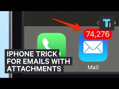 iPhone trick for emails with attachments