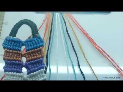 ◘ Friendship Bracelet- Double Connected Flip Flop Zigzag ◘