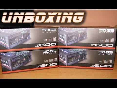 Unboxing Nueva Fuente de Poder Acteck Edge Systems Z600W Ventilador LED 120mm Economica Gamers
