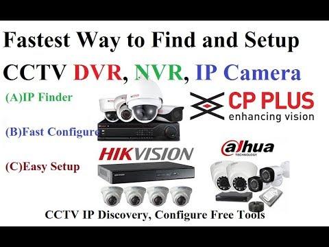 Find IP Address CCTV DVR NVR IP Camera