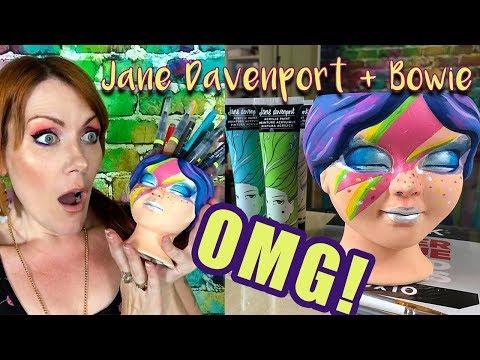 JANE DAVENPORT MEETS DAVID BOWIE | Matte Acrylic PAINT DRAMA + Pencil Cup Review